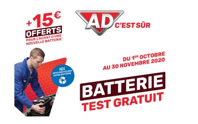 Batterie : Test gratuit et 15€ offerts