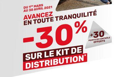 -30% Sur le Kit de Distribution