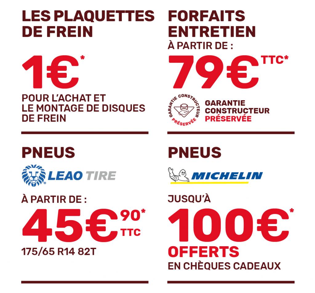Détails des offres du moment Plaquettes de Frein, Pneus, Entretien chez Auto tr89 en juin et juillet 2021